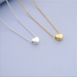 Silver Or Gold Dainty Pendant Heart Necklace
